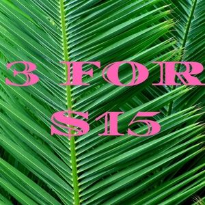 3 FOR $15 SALE! MIX & MATCH!
